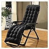 Kuhxz Patio Chaise Lounger Cushion, Lounger Rocking Sofa Zero Gravity Locking Garden Outdoor Loung Chair Tatami Mat Window Seat Mattress Chair Pad (61.0 x 18.9 x 3.1 inches, Black)