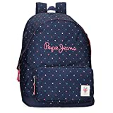 Pepe Jeans Molly Adaptable Backpack, Mochila Escolar para Niñas, Azul (598dark Ocean), 1x1x1 Centimeters (W x H x L)