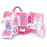 deAO 2 en 1 Caisse Transportable et Chambre de Poupée Princesse Deluxe...