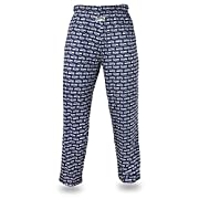 Officially licensed product of the National Football League Support your favorite team in these stretchy, cotton-blend men's pants featuring an all over wordmark and team logo design. Add some comfort to your wardrobe in these relaxed fit lounge pant...