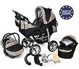 Kamil - Landau pour bébé + Siège Auto - Poussette - Système 3en1, incluant...