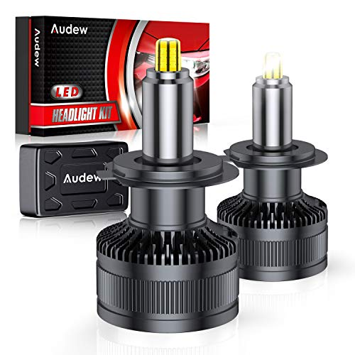 Audew H7 LED Lampadine 36SMD 360 Chips Lampade a Fari LED H7 Kit 10000lm 12V 6000K Sostituzione per Luci Abbaglianti e Anabbaglianti Bianco