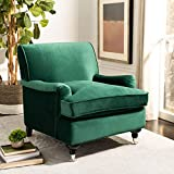 Safavieh Home Chloe Emerald Green Velvet Club Chair