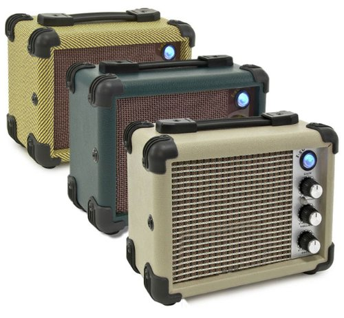 Honkin' Tom's 5W Vintage Style Busking Mini MP3 Amplifier suitable for Guitar, Uke and of course Harmonica (Vintage Tweed)