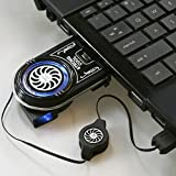 MOHALIKO Laptop Fan Cooler, Laptop Cooling Fan, Mini Vacuum LED USB Cooler Air Extracting Cooling Pad Fan for Gaming Laptop