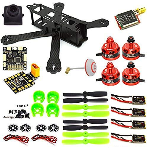 LHI 220mm Full Carbon Frame + DX2205 2300KV Brushless Motor + Regolatore Littlebee 20A + PRO SP Racing F3 Regolatore di Volo Acro + 5045 Propeller FPV Quadcopter ARF Kit