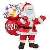 Auifor 2020 Weihnachten Dekorationen, Segen Weihnachtsmann Weihnachtsbaum Hängen Anhänger, Personalisierte Weihnachtsmann mit 𝐌aske Weihnachtsdeko