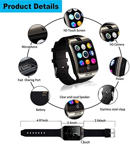 Mahipey Smart Watch,Smartwatch for Android Phones,Smart Watches Touchscreen with Camera Bluetooth Watch Cell Phone with Sim Card Slot Compatible Samsung Ios Phone 12 12 Pro 11 10 Men Women 16