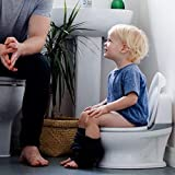 Nuby My Real Potty Training Toilet with Life-Like Flush Button & Sound for Toddlers & Kids, White/Gray