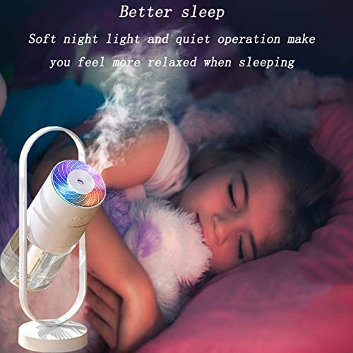 fuliying Cool mist humidifier-Portable mini humidifier with led lights,usb portable air humidifier ultra-quiet, Suitable for Babies, Kids, Indoor, Bedroom, Office, Car, Travel 13