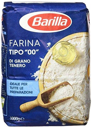 Barilla 10x Farina Tipo 00 Grano tenero Harina de Trigo Blando 1Kg