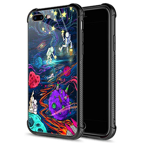 iPhone 8 Case,Trippy Psychedelic 7 iPhone 7 Cases iPhone SE 2020 Cases for Girls Boys,9H Tempered Glass Graphic Design Shockproof Anti-Scratch Tempered Glass Case for Apple iPhone 7/8/SE2