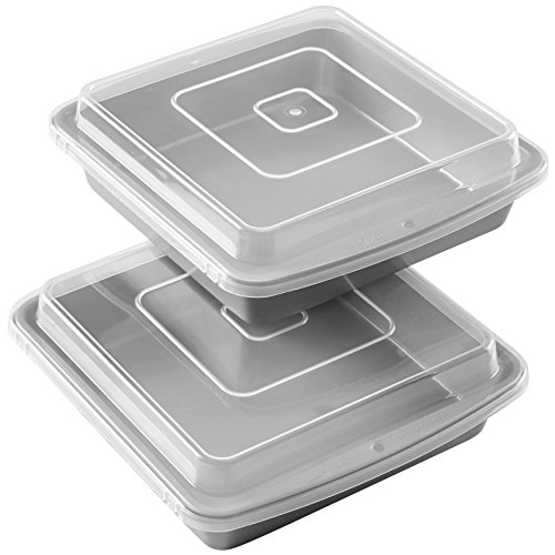 Wilton 9-Inch Square Baking Pan with Lid, Set of 2