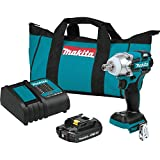 Makita XWT11SR1 18V LXT Lithium-Ion Compact Brushless Cordless 3-Speed 1/2' Sq. Drive Impact Wrench Kit (2.0Ah)