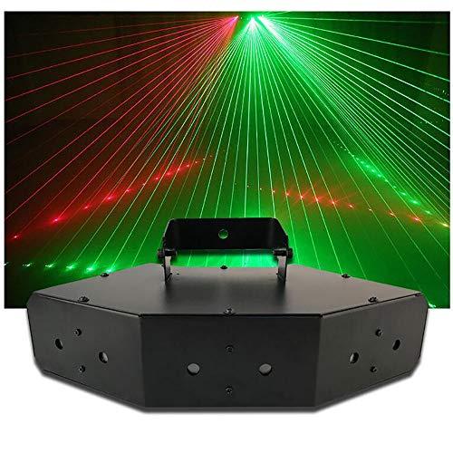 LXL LED disco licht voller Farbe 6 Spitzen dmx-Scan-party lichter party deko beleuchtung KTV Flash fächerförmigen Sprachsteuerung dj Lichter
