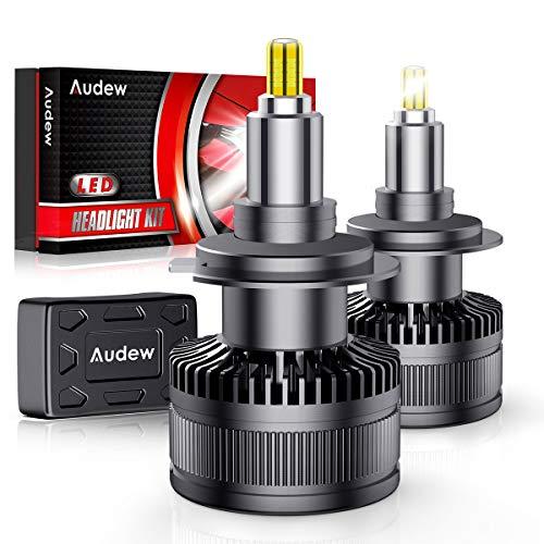 Audew H7 LED Lampadine 36SMD 360 Chips Lampade a Fari LED H7 Kit 10000lm 12V 6000K Sostituzione per...