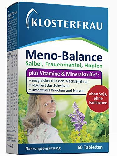 Klosterfrau Meno-Balance/Nahrungsergänzung mit Vitaminen & Mineral- und Pflanzenstoffen zur Unterstützung in den Wechseljahren, 60 Tabletten