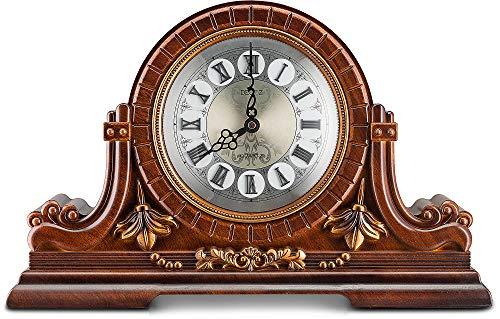 Decodyne Kaminuhr - Große Antik Design Uhr mit römischen Ziffern - Kunstholz