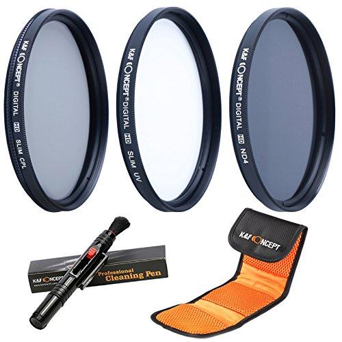52MM UV CPL ND4 - K&F Concept 52MM Filtro Kit UV Protector Polarizador Circular Filtro Densidad...