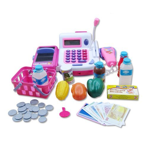 Mayatra's Realistic Educational Cash Register Toy Supermarket Set ( Color May Vary )