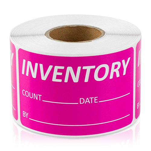 Inventory Label, 1.5' x 2.5', Inventory Control Labels (Pink / 300 Labels per Roll / 1 Roll)