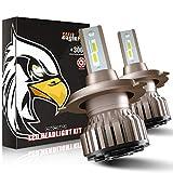 Ampoule H4 LED, 10800LM 6000K Phares pour Voiture et Moto, 2 Pièces