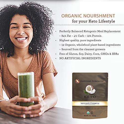 Functional Formularies Ketogenic Meal Replacement Supplement, Add to Your Recipes for Perfectly Balanced Keto Organic Nutrition, 24 Pack 6