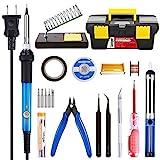 Soldering Iron Kit Electronics 60W Adjustable Temperature Soldering...