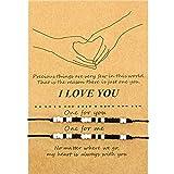 Valentines Morse Code Bracelet I Love You Friendship Couple Family Bracelet Present (I Love You Bead Style)