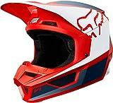 2019 Fox Racing V1 Przm Off-Road Motorcycle Helmet - Navy/Red / Large