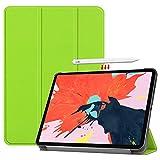 Vikisda iPad Pro 12.9 2018 ケース カバー 高級感PUレザー 超軽量 薄型 傷つけ防止 耐衝撃 三つ折 スタンド機能 2018年モデル iPad Pro 2018 12.9インチ グリーン