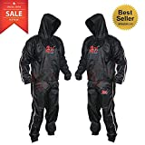 2Fit Heavy Duty Sweat Suit Sauna Exercise Gym Suit Fitness, Weight Loss, AntiRip (Large)