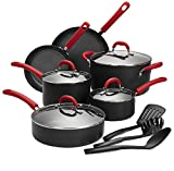 Finnhomy Super Value Hard-Anodized Aluminum Cookware Set, Double Nonstick Coating Kitchen Pots and...