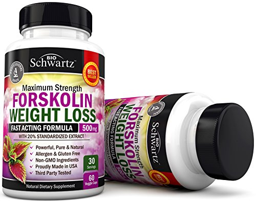 Forskolin Extract for Weight Loss. Pure Forskolin Diet Pills & Belly Buster Supplement. Premium Appetite Suppressant, Metabolism Booster, Carb Blocker & Fat Burner for Women and Men Coleus Forskohlii 4