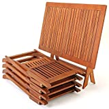 Deuba Sitzgruppe Sydney 4+1 Akazienholz 5-TLG Tisch klappbar Sitzgarnitur Holz Garten Möbel Set - 7