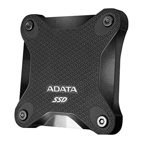 ADATA SD600Q - 240 GB, externe Solid-State-Drive mit 3D-NAND-Flash, 2.5 Zoll, USB 3.2 Gen.1, schwarz