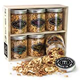 Oh! Nuts Healthy Granola Gift Baskets, 6 Variety Christmas Basket of Gourmet Toasted Oats & Nut, Birthday Gifts for Women, Men & Family, High Protein Keto Breakfast Snack Box, Holiday, Valentines Day
