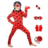 Ladybug Costumes Girls' Cosplay Jumpsuit with Yoyo,Mask and Gloves 4pcs(New, XL)