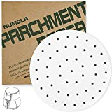 Numola 9 Inch Air Fryer Liners, 100 PCS Perforated Parchment Paper Compatible with COSORI, GoWISE USA, Instant Vortex, Ninja, Ultrean, Chefman, Innsky, Dash, Secura and More 5.3-5.8qt Air Fryers