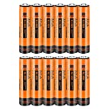 iMah AAA Rechargeable Batteries, Also Compatible with Panasonic Cordless Phone Battery HHR-4DPA/4B Ni-MH 1.2V 550mAh HHR-55AAABU and 750mAh HHR-75AAA/B-6, Outdoor Garden Solar Lights, Pack of 12