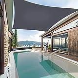 Garden EXPERT Waterproof Sun Shade Sail 13'x19' Rectangle Canopy Cover for Patio Backyard Lawn Outdoor Activities, Black
