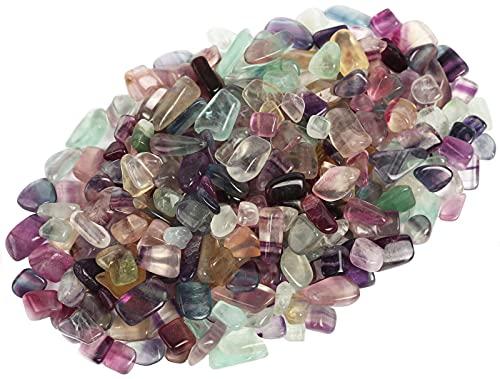 ZenQ 1 lb Fluorite Tumbled Stone Chips Crushed Natural...