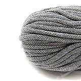 NTS Nähtechnik 50m Baumwollkordel mit Kern 6mm breit (grau)