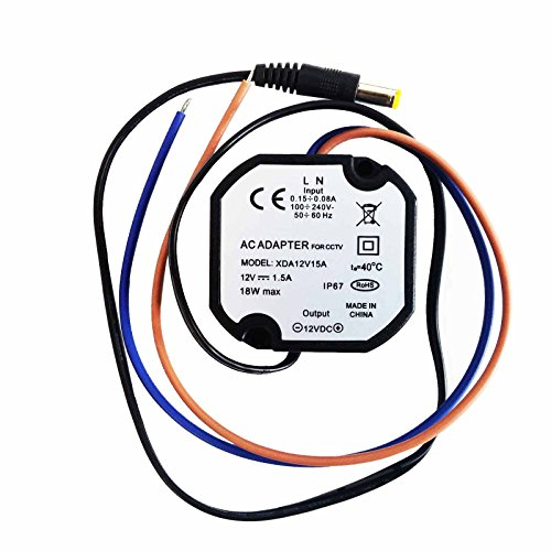 Micro Alimentatore Stabilizzato 12V 1,5 A per Telecamere Videosorveglianza IP67