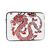 Hangdachang Portátil Que Lleva el Bolso del Forro a Prueba de Golpes Durabl Business Casual o School Asian Traditional Chinese Dragon Character Translate Antiguo 10 Pulgadas