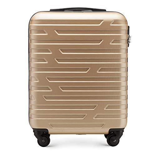 WITTCHEN Trolley Bagaglio a mano - Valigia rigida | Colore: Oro | Materiale: ABS | Dimensioni:...