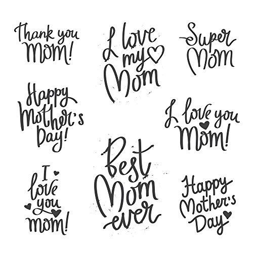 5 Ace Super mom Sticker Poster|Love Poster|Valentine Poster|Size:12x18 inch,Multicolor