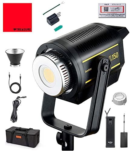 国内正規代理店 Godox VL VL150 150W LED ビデオライト 5600±200K 61000lux ボーエンズマウント 1年保証/日本語説明書/クロス付/セット品 (VL-150)