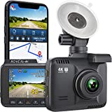 Rove R2-4K Dash Cam Built in WiFi GPS Car Dashboard Camera Recorder with UHD 2160P, 2.4' LCD, 150° Wide Angle, WDR, Night Vision