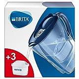 BRITA Carafe filtrante Marella bleue - 3 filtres MAXTRA+ inclus